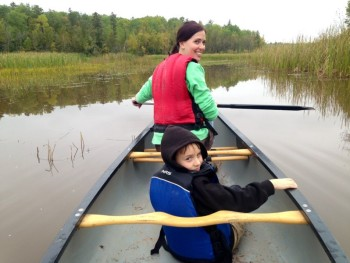 Canoeing Pokegama Bay with Lake Superior Elementary